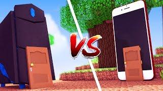 Minecraft: CASA DE COMPUTADOR VS. CASA DE CELULAR ‹ JUAUM ›