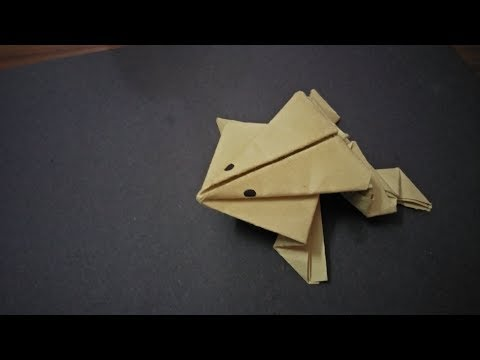 origami jumping frog step by step making