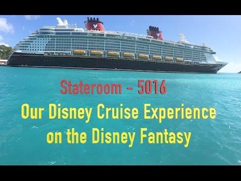 Disney Fantasy Deluxe Family Ocean View Cabin Tour - Stateroom 5016