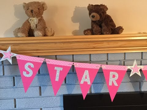 HOW TO MAKE A PAPER BANNER - BUNTING FOR ANY OCCASION