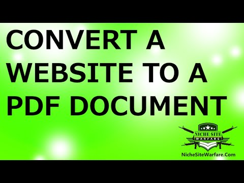 How To Easily Convert A Webpage or Website To A PDF Document