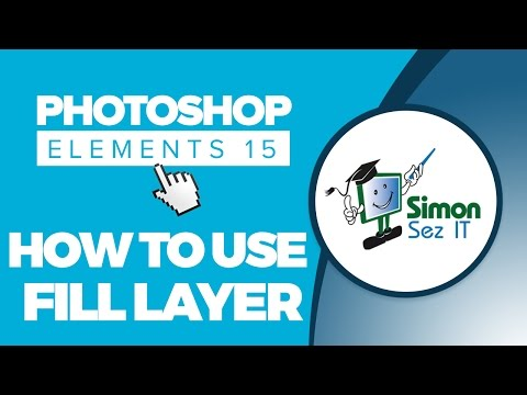 How to Use Fill Layers and Change Backgrounds in Adobe Photoshop Elements 15 Tutorial