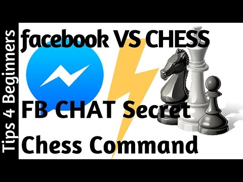 How To Play chess on FB Messenger Facebook, chat Chess Command | Facebook Tips Tricks
