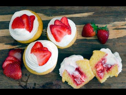Washington Redskins' Strawberry Shortcake Cupcakes | Tasty Tailgate Recipe