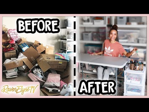 CLEAN & ORGANIZE WITH ME | Creating a Craft Room in my Garage!