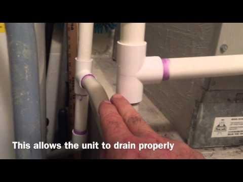 Condensate line P-trap tutorial