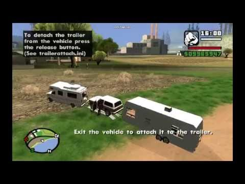 Camping Mobile Save House 2.0 and Trailer Attach (GTA SA)