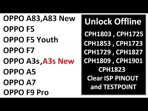 Download Oppo Unlock All Model Testpoint and ISP Pinout | Now its