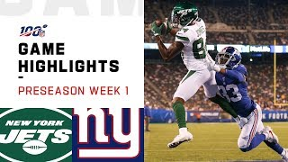 Jets vs. Giants Preseason Week 1 Highlights | NFL 2019