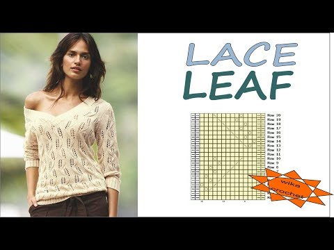 Knitting patterns LACE LEAF PATTERN How to knit leaf WWWIKA Crochet #leaf