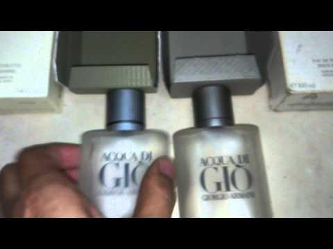 Perfume acqua di gio original e falsificado