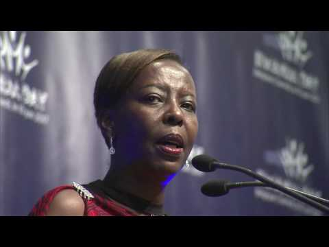 Minister Louise Mushikiwabo speaks at Rwanda Day Belgique 2017