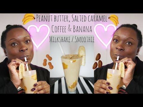 How to make Coffee Banana Salted Caramel & Peanut butter Smoothie / Choccywoccydoodah Inspired
