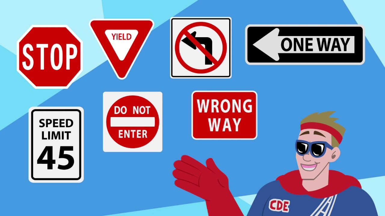 How to understand traffic signs What are the important road signs
