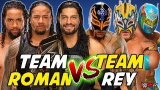 Rey Mysterio & Lucha Dragons vs. Roman Reigns & The Usos