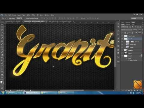 Tutorial Photoshop CS6 [HD]: How to make Pattern and Gold Text Style