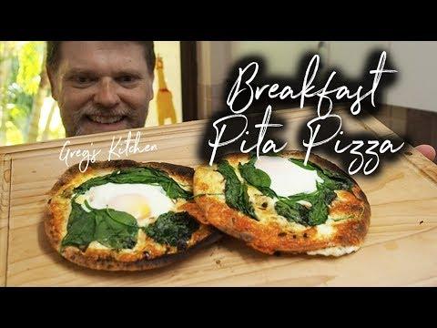 Breakfast Pita Bread Pizza Recipe - Greg's Kitchen
