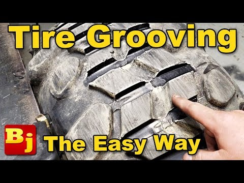 Easy Regrooving a Tire - Using a Tire Groover and other Tools