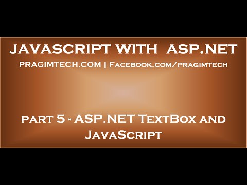 ASP NET TextBox and JavaScript