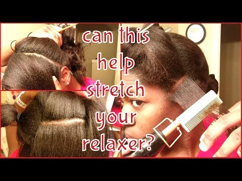 Using a Hot Comb on Relaxed Hair New Growth 🤔