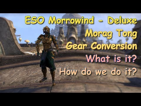 ESO Morrowind Morag Tong Gear Conversion