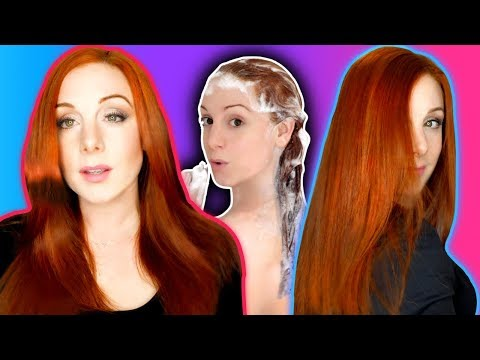 MY SHINY SILKY HAIR CARE ROUTINE FOR INSTANTLY GLOSSY HAIR (also red/ginger hair dye colour)