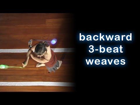 Beginner Poi Spinning Tutorial: Backwards 3-Beat Weave