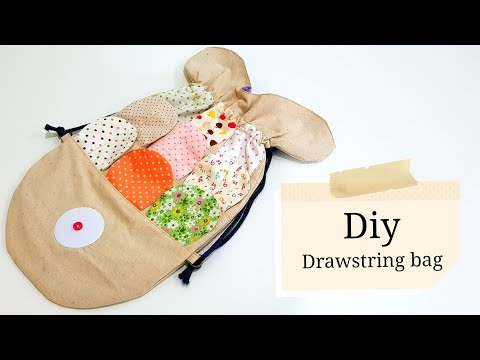 Diy Fish drawstring bag   Step by step tutorial   小鱼束口袋好可爱啊!!!❤❤