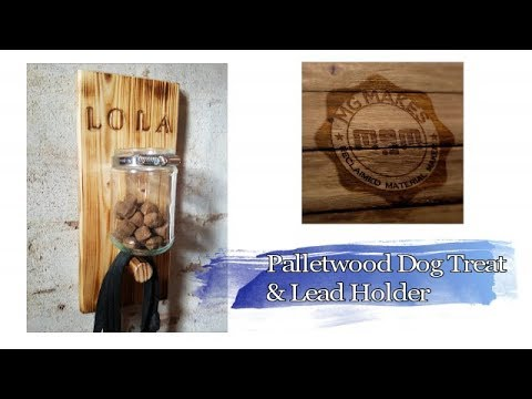 Dog Leash and Treat holder (DIY Palletwood)