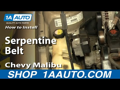 How To Install Replace Serpentine Belt Chevy Malibu 97-03 1AAuto.com