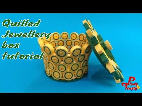 Quilled jewelry box| handmade jewel box tutorial|Paper quilling|quilling art
