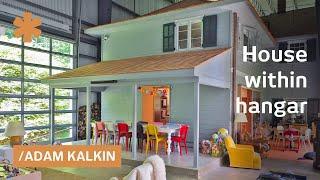 Farmhouse in a hangar: NJ modern home creates a world within