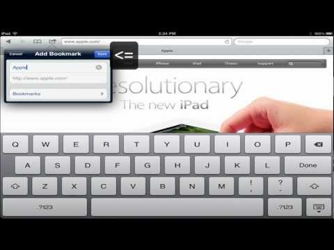 Quick Tip - Add bookmarks to iPad