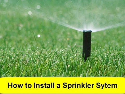How To Install a Sprinkler System (HowToLou.com)