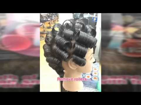 How-to roller/wrap set hair tutorial