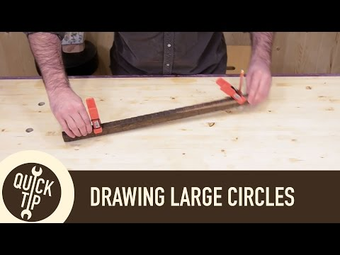 Draw Large Circles and Curves Without a Trammel or Compass.