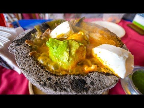 LAVA SALSA AVOCADO - Molcajete Caliente Mexican Food at Los Sifones, Mexico City!
