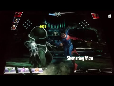 Injustice Mobile (NORMAL) Dawn of Justice Superman Boss Battle