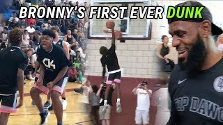 13-Year-Old Bronny James Throws Down FIRST DUNK EVER! LeBron Coaches Blue Chips To CHAMPIONSHIP 🏆