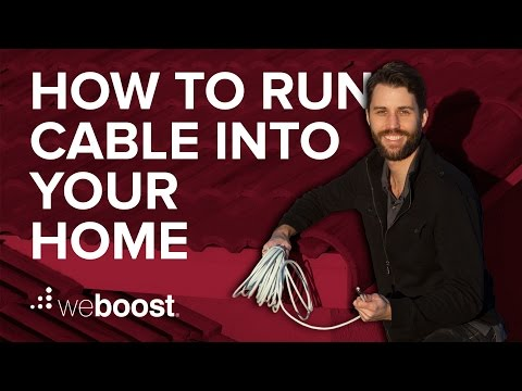 How to run cable into a home for a cell phone signal booster | weBoost