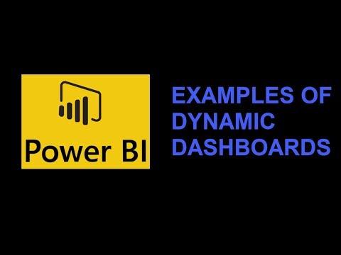 PowerBI, examples of dashboard
