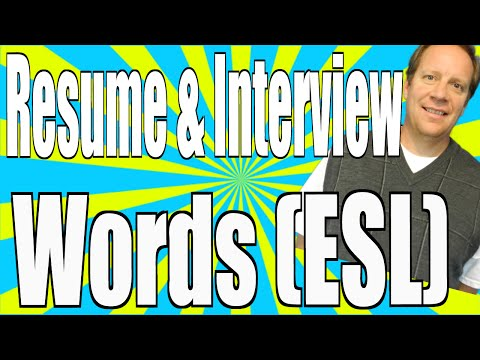 Top Words for Your Job Interview and Resume (English Lesson) - Learn English While You Earn!