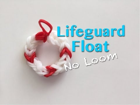 EASY Lifeguard Ring Float Charms WITHOUT the Rainbow Loom