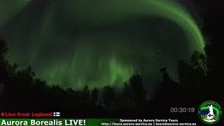 Aurora Borealis in Lapland, Finland *Live Stream* Highlights 9.9.2018
