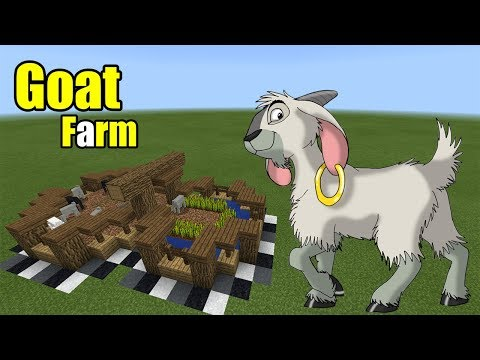 How to Make a Goat Farm | Minecraft PE