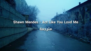Shawn Mendes - Act Like You Love Me مترجمة