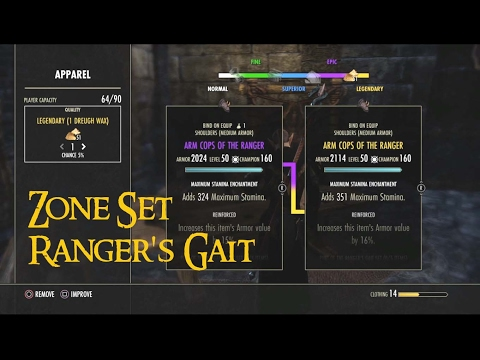 ESO Set | Ranger's Gait Set Farm Location // Zone Set