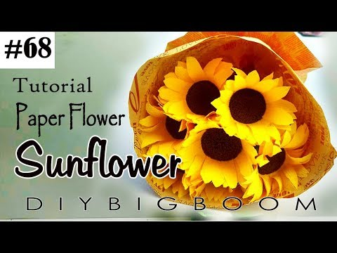 Paper flowers tutorial #68 - How to make Bouquet paper flowers easy step by step