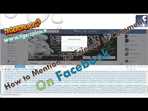 How to mention all your friends in comment on facebook