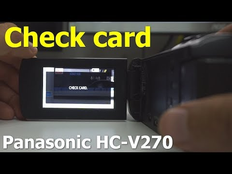 Check Card (Panasonic HC-V270, Red, crossed memory card sign)